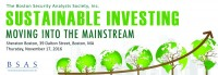 BSAS 4th Annual Sustainable Investing Seminar