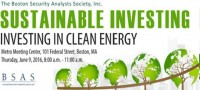 Boston Cleantech PE and VC Investor Rob Day headlines BSAS Investing in Clean Energy breakfast June 9th